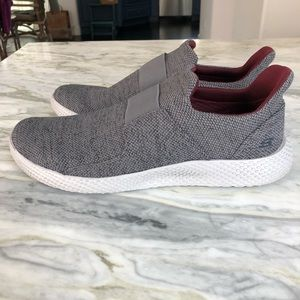 Skechers Grey Knit Slip On Sneakers